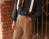 Cowboy Pants Old West Trousers Canvas Steampunk Western Historical
