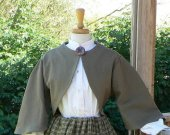 Civil War Zouave Bolero Jacket Skirt Homespun Cotton Plaid Dress Set Historical Costume