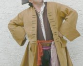 Pirate Coat Jack Sparrow Canvas Colonial Style Basic Historical Costume