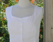 Cotton Camisole Victorian Chemise Western Cowboy Cami Button Up Blouse Historical Costume