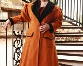 Womans Carriage Coat Cowboy Duster Western Style Victorian Jacket Canvas Historical