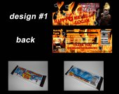 Twisted Metal Set of 12 Personalized Candy Bar Wrappers Party Favors