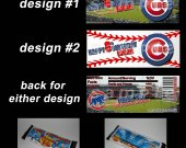 Chicago Cubs Set of 12 Personalized Candy Bar Wrappers Party Favors