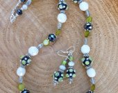 Polka Dot Necklace and Earrings