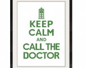 ALL STITCHES - Call the Doctor Cross Stitch Pattern .PDF - Pick Large or Medium Size -206