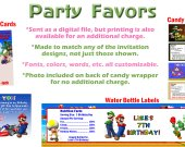 Super Mario Bros. Personalized Birthday Party Favors