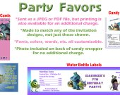 Monsters Inc 2 Personalized Birthday Party Favors