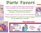 My Little Pony Personalized Birthday Party Favors