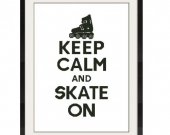 ALL STITCHES - Skate On Cross Stitch Pattern .PDF - PICK LARGE OR MEDIUM SIZE -436