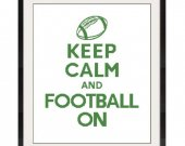 ALL STITCHES - Football On Cross Stitch Pattern .PDF - PICK LARGE OR MEDIUM SIZE-348