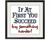 ALL STITCHES - Try Something Harder Cross Stitch Pattern .PDF -451