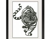 ALL STITCHES - Tiger Cross Stitch Pattern .PDF -453