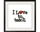 ALL STITCHES - Love to Teach Cross Stitch Pattern .PDF -457