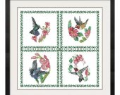 ALL STITCHES - Hummingbird Cross Stitch Pattern .PDF -441