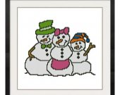 ALL STITCHES - Snowman Family Cross Stitch Pattern .PDF -442