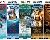 Narnia The Lion, The Witch, and The Wardrobe Birthday Party Ticket Invitations, Supplies, and Favors