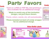 Princesses Personalized Birthday Party Favors