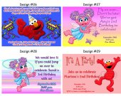 Sesame Street Birthday Party Invitations, Supplies, and Favors
