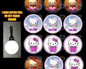 Hello Kitty Set of 12 Zipper Pulls - Make Great Party Favors