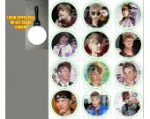 Justin Bieber Set of 12 Zipper Pulls - Make Great Party Favors - Set 1