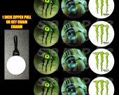 Monster Energy Set of 12 Zipper Pulls - Make Great Party Favors