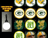 Green Bay Packers Set of 12 Zipper Pulls - Make Great Party Favors