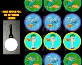 Phineas and Ferb Set of 12 Zipper Pulls - Make Great Party Favors - Set 2