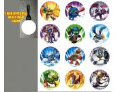 Skylanders Set of 12 Zipper Pulls - Make Great Party Favors - Set 1