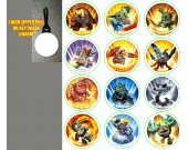 Skylanders Set of 12 Zipper Pulls - Make Great Party Favors - Set 2