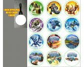 Skylanders Set of 12 Zipper Pulls - Make Great Party Favors - Set 3