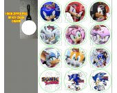 Sonic Set of 12 Zipper Pulls - Make Great Party Favors