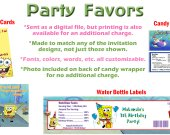 Spongebob Squarepants Personalized Birthday Party Favors