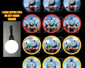 Thomas the Train Set of 12 Zipper Pulls - Make Great Party Favors