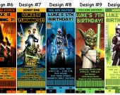 Star Wars Birthday Party Ticket Invitations, Supplies, and Favors