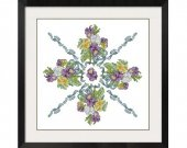 ALL STITCHES - Floral Deisgn Cross Stitch Pattern .PDF -546