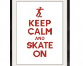 ALL STITCHES - Skate On Cross Stitch Pattern .PDF - PICK LARGE OR MEDIUM SIZE -527