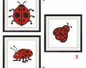 ALL STITCHES - 3 Pattern Set - Lady Bug Cross Stitch Patterns .PDF -467