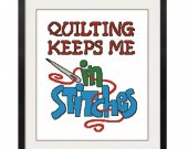 ALL STITCHES - Quilting Keeps Me In Stitches Cross Stitch Pattern .PDF -626