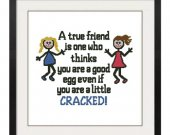ALL STITCHES - A True Friend Cross Stitch Pattern .PDF -627