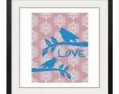 ALL STITCHES - Love Birds Cross Stitch Pattern .PDF -628