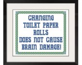 ALL STITCHES - Changing Toilet Paper Cross Stitch Pattern .PDF -617