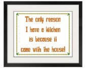 ALL STITCHES - I Have a Kitchen Cross Stitch Pattern .PDF -618
