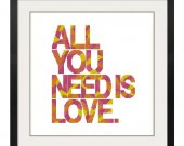 ALL STITCHES - All You Need Is Love Cross Stitch Pattern .PDF -630