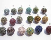 bulk bling ball round  colorful mixed  spacers bead with czech rhinestone findings 12mm 100pcs