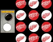 Detroit Red Wings Set of 12 1-Inch Buttons Make Great Party Favors