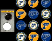 St. Louis Blues Set of 12 1-Inch Buttons Make Great Party Favors
