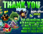 Angry Birds Space Personalized Thank You Cards