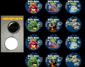 Angry Birds Space Set of 12 1-Inch Buttons Make Great Party Favors