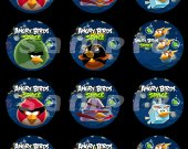 Angry Birds Space Set of 12 2.5-Inch Round Personalized Stickers or Cupcake Toppers