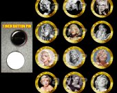 Marilyn Monroe Set of 12 1-Inch Buttons Make Great Party Favors